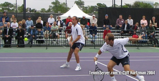 Tennis - Xavier Malisse (left) and Olivier Rochus