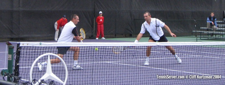 Tennis - Cyril Suk (left) and Martin Damm