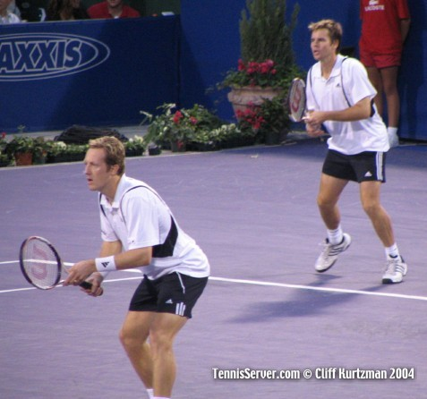 Tennis - Todd Woodbridge (left), Jonas Bjorkman