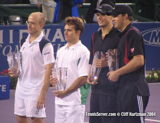 Tennis - Bryan Brothers - Mike Bryan and Bob Bryan - Kevin Ullyett (left) Wayne Black (2nd from left)