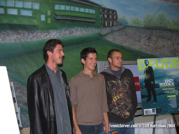 Tennis - Marat Safin, Tim Henman, and Andy Roddick at DEUCE party
