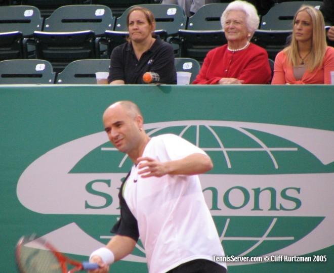 Tennis - Andre Agassi - Barbara Bush - Linda McIngvale