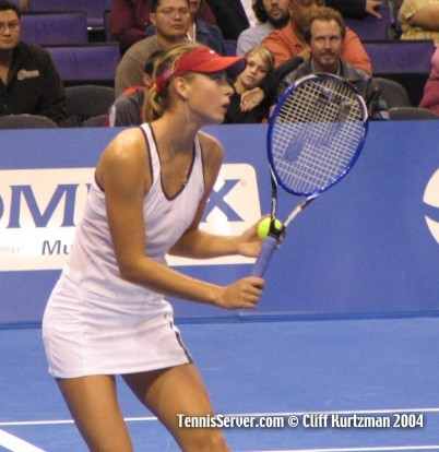 Maria Sharapova at 2004 WTA Championships.