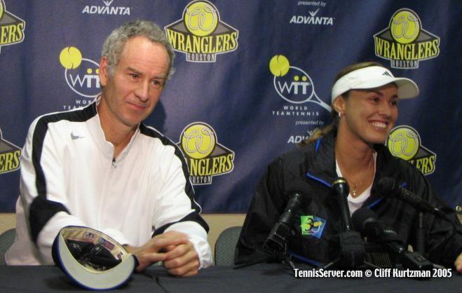 Tennis - John McEnroe - Martina Hingis