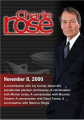 >Charlie Rose with Jay Carney; Marion Jones; Maurice Green; Dana Torres; Martina Hingis (November 8, 2000) DVD