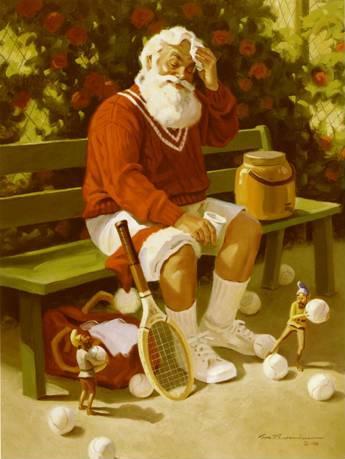 Tennis Santa Claus